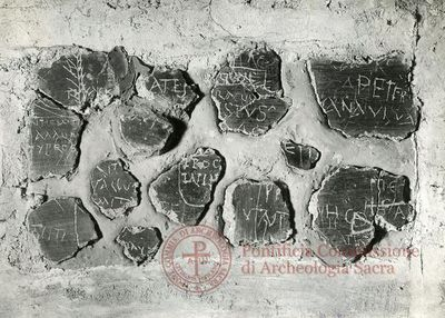 Inscription from Rome, Memoria Apostolorum ad Catacumbas - ICVR V, 13046.b
