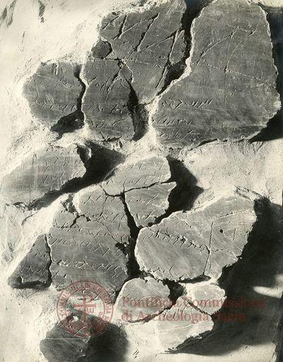 Inscription from Rome, Memoria Apostolorum ad Catacumbas - ICVR V, 12911.e