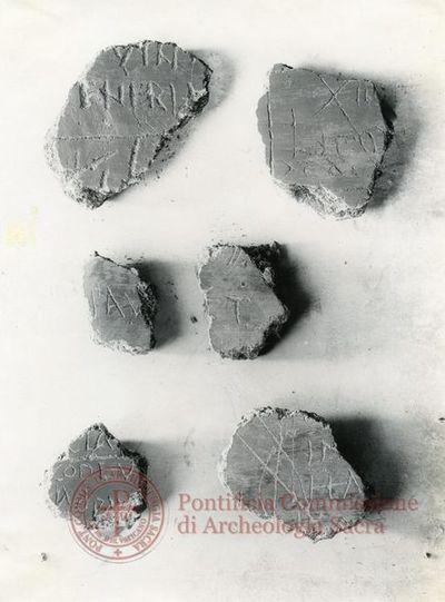 Inscription from Rome, Memoria Apostolorum ad Catacumbas - ICVR V, 12947.a