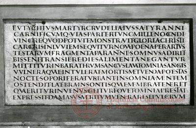 Inscription from Rome, Coem. subdiale ad Catacumbas - ICVR V, 13274