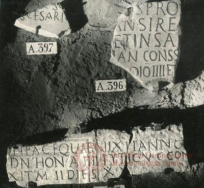 Inscription from Rome, Coem. subdiale ad Catacumbas - ICVR V, 13373