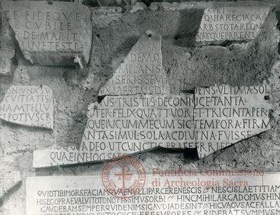 Inscription from Rome, Coem. subdiale ad Catacumbas - ICVR V, 13824