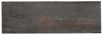 Inscription from Rome, Coem. ad Vibiam - ICVR V, 15276