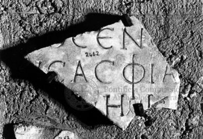 Inscription from Rome, Coem. subdiale ad Catacumbas - ICVR V, 13861.f