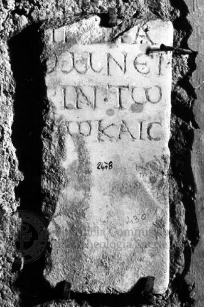 Inscription from Rome, Coem. subdiale ad Catacumbas - ICVR V, 13850.b