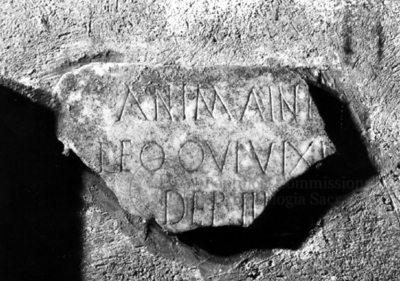 Inscription from Rome, Coem. subterraneum ad Catacumbas - ICVR V, 13183