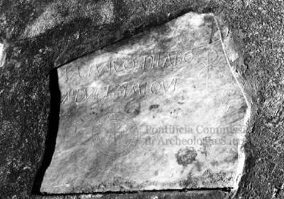 Inscription from Rome, Coem. subterraneum ad Catacumbas - ICVR V, 13232