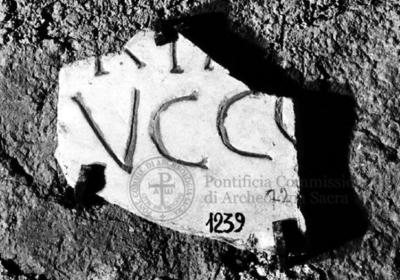Inscription from Rome, Coem. subdiale ad Catacumbas - ICVR V, 13433.c