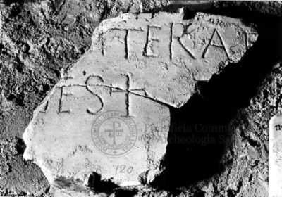 Inscription from Rome, Coem. subdiale ad Catacumbas - ICVR V, 13686.b
