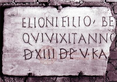 Inscription from Rome, Coem. subdiale ad Catacumbas - ICVR V, 13552