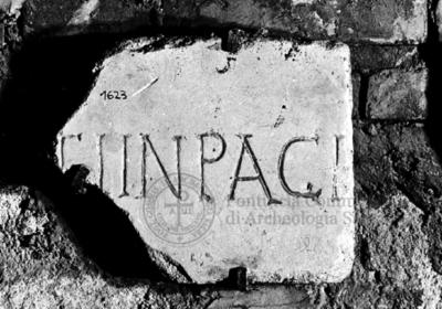 Inscription from Rome, Coem. subdiale ad Catacumbas - ICVR V, 13676.c