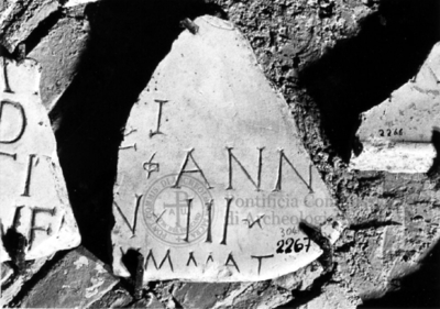 Inscription from Rome, Coem. subdiale ad Catacumbas - ICVR V, 13778.a