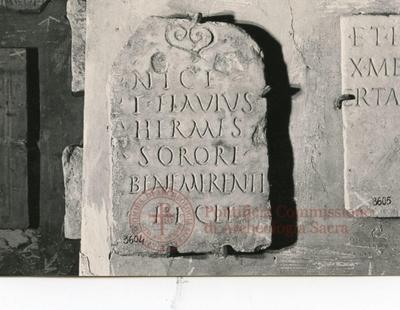 Inscription from Rome, Sepulchrum arenariae ad coem. Catacumbas - ICVR V, 12895