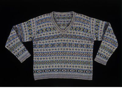 Fair Isle jumper, hand-knitted wool, possibly by Tulloch of Shetland, Scotland, ca. 1931.