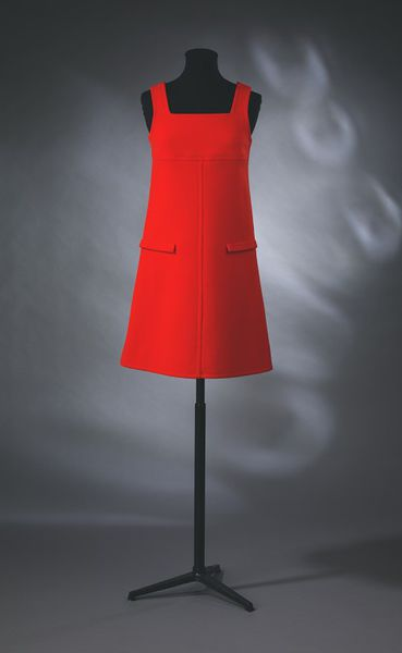 Short mini dress made of wool gabardine, designed and made by André Courrèges, Paris, 1966.
