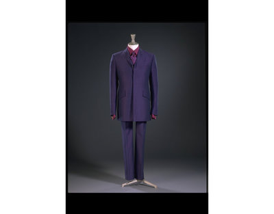 Man's suit consisting of a jacket and trousers in wool, polyester and mohair, designed by Ozwald Boateng, Great Britain, 1996.