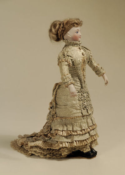 Fashion dolls, English, made by Mrs Latter Axton, 1880s.