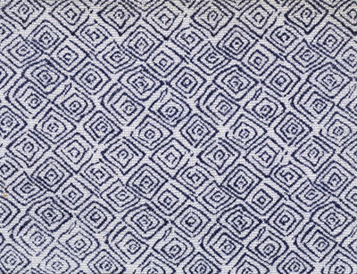 Swatch of dress fabric in screen-printed rayon, designed by Eric Stapler, made by Ascher Ltd., London, 1945.