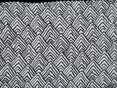 Dress fabric sample of printed rayon, made by Ascher Ltd., Great Britain, 1940s.