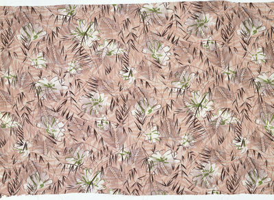 Dress fabric of printed rayon crêpe, made by Calico Printers' Association, Great Britain, 1937.