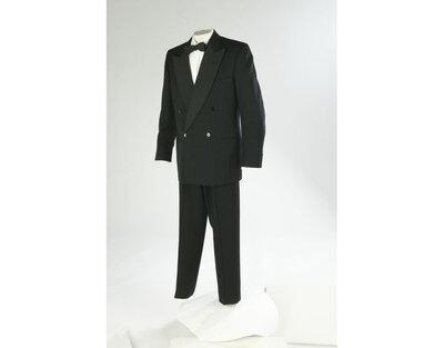 Black wool dinner suit, made by Daks-Simpson, Great Britain, 1955.Black wool dinner suit.Wool.
