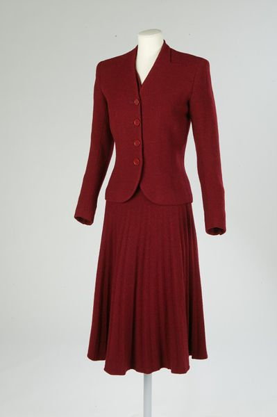 Jacket and dress of wool with silk, designed by Edward Molyneux, Paris, 1930-1939.