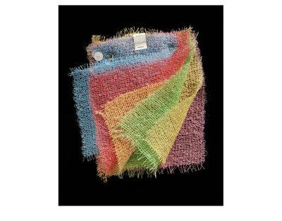 Dress fabric samples 'Etchahan' in mohair and nylon bouclé, Ascher Ltd., Great Britain, 1958.