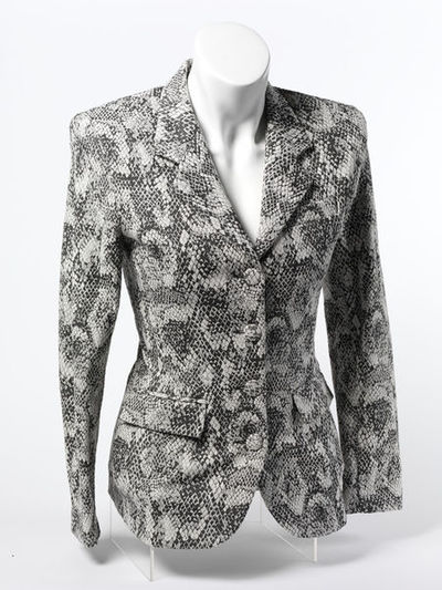 Women's jacket of cotton, rayon and spandex, designed and made by Irie, Paris, 1992.