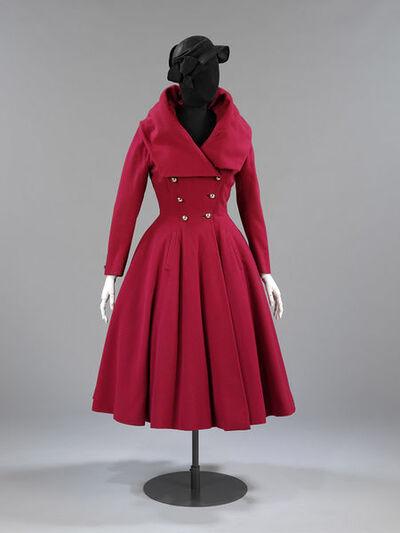 Ladies coat of wool, designed by Hardy Amies, London, 1947-1948.