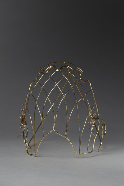 Face mask, gold and diamonds, Peter Page, 1972.Gold and 32 brilliant-cut diamonds.