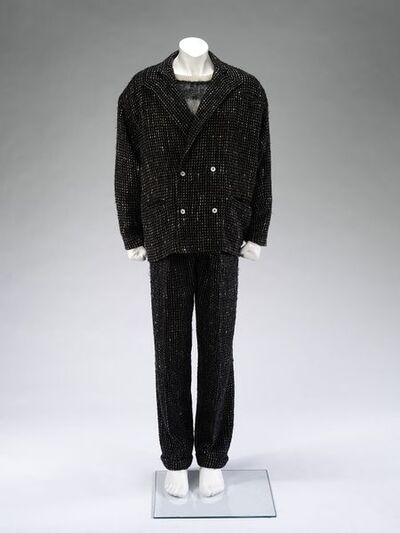 Suit, wool tweed, designed by Wendy Dagworthy, Great Britain, 1984.