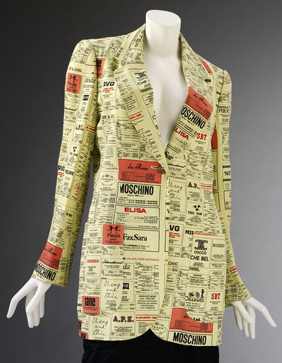Women's jacket, rayon, designed by Moschino, Italy, CheapAndChic (Donna) SS 1994.