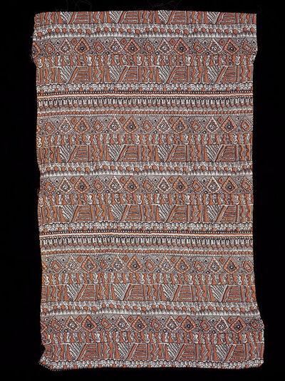 Dress fabric of screen-printed rayon, made by Roosen Silks Ltd., England, 1947.
