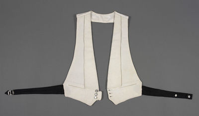 Evening waistcoat of marcella piqué, English, retailed by Harrods, 1936-1939.