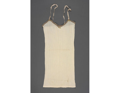 Knitted rayon vest, made for Utility, Great Britain, 1942-1950.