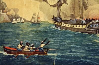 Dramatisk slagscene i Karibien med bånd til dagens norske sjøfolk.