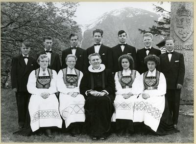 Konfirmantar i Eidfjord 1957