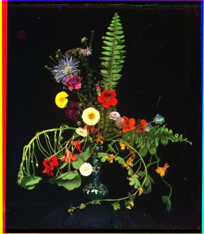 Blomsteroppsats.