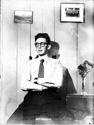 Portrett av en ung mann, selvportrett.