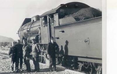 Damplokomotiv type 30b nr. 360 på Mosjøen stasjon