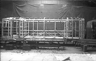 Stenderverk til vognkasse for motorvogn litra Cmb for smalspor