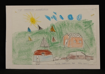 På en Camping i sommerferien.
