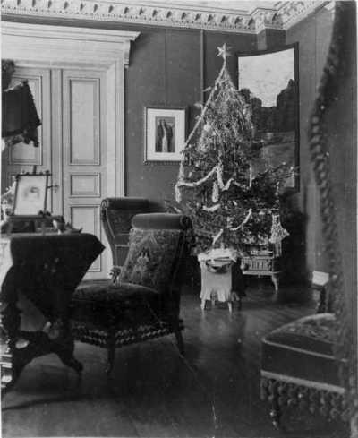 interiør, stue, salong, juletre