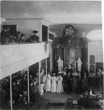 Garnisonskirken, interiør, konfirmasjon, jenter, gutter, menighet