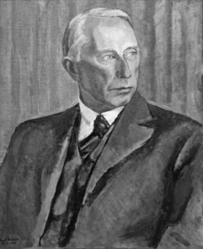 maleri: portrett, mann, landbruksdirektør, brystbilde