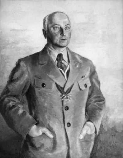maleri: portrett, mann, kontorsjef i Norges Bank, stående halvfigur