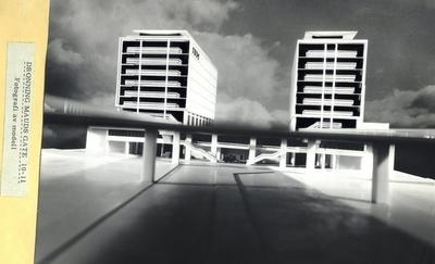 Drinning Mauds Gt Modell av bygning