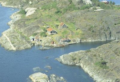 Flyfoto fra Kragerø. Antagelig 1959
