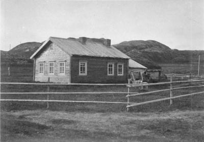 Snikkvollen i Grense Jakobselv på russisk side ca 1890.