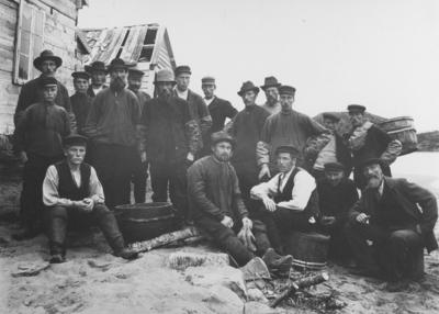 Den mannlige befolkningen i Grense-Jakobselv ca 1905